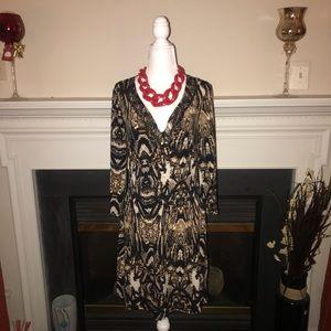 Worthington Stretch Tribal Print Dress